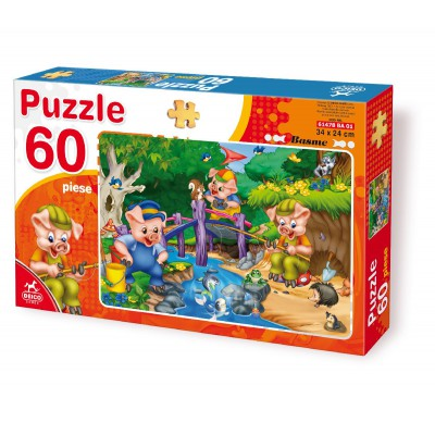 Puzzle Dtoys-61478-BA-01 Tales and Legends: The 3 Little Pigs