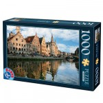 DToys-62154-EC05 Jigsaw Puzzle - 1000 Pieces - Landscapes : Gand, Belgium