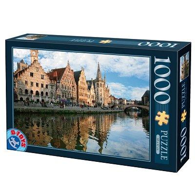 DToys-62154-EC05 Jigsaw Puzzle - 1000 Pieces - Landscapes : Gand, Belgium