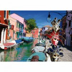DToys-62154-EC10 Jigsaw Puzzle - 1000 Pieces - Landscapes : Burano, Italy