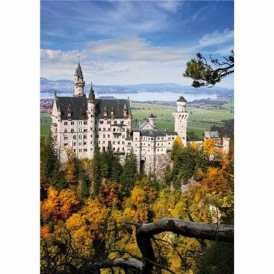 DToys-62154-EC14 Jigsaw Puzzle - 1000 Pieces - Landscapes : Neuschwansstein Castle