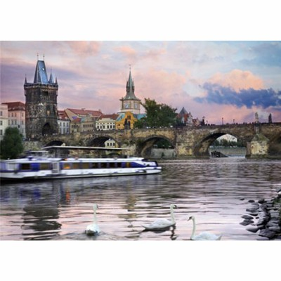 Puzzle DToys-62154-EC15 Jigsaw Puzzlle - 1000 Pieces -- Nocturnal Landsacapes : Prague, Czech Republic