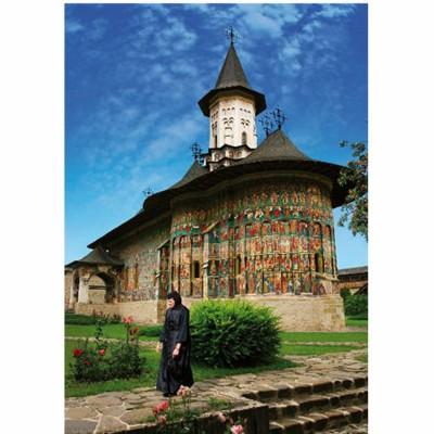 DToys-63038-MN03 Jigsaw Puzzle - 1000 Pieces - Romania : Sucevite Monastery