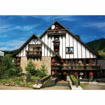 DToys-63038-MN05 Jigsaw Puzzle - 1000 Pieces - Romania : Plai de dor Hotel, Bucovine