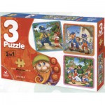 Puzzle  Dtoys-63717-BA-01 Tales and Legends: Little Red Cap, Pinocchion, Blanche Neige and the Seven Dwarfs