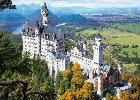 DToys-64288-FP02-(70654) Jigsaw Puzzle - 1000 Pieces - Famous Places : Neuschwanstein Castle, Germany