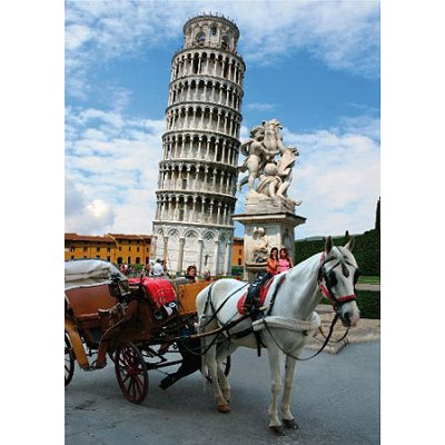 DToys-64288-FP03 Jigsaw Puzzle - 1000 Pieces - Famous Places : Pisa Tower, Italy