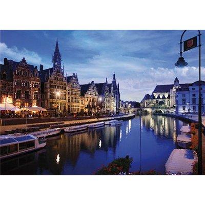 DToys-64301-NL03 Jigsaw Puzzle - 1000 Pieces - Nocturnal Landscapes : Gand, Belgium