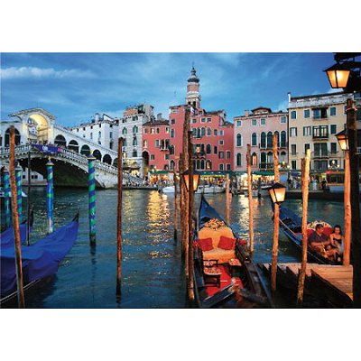 DToys-64301-NL04-(70555) Jigsaw Puzzle - 1000 Pieces - Nocturnal Landscapes : Venice, Italy