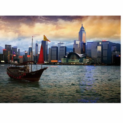 DToys-64301-NL05-(70548) Jigsaw Puzzle - 1000 Pieces - Nocurnal Landscapes : Hong Kong Island