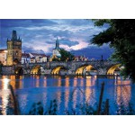 DToys-64301-NL09 Jigsaw Puzzle - 1000 Pieces - Nocturnal Landscapes : Prague, Czech Republic