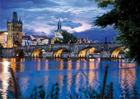 DToys-64301-NL09 Jigsaw Puzzle - 1000 Pieces - Nocturnal Landscapes : Prague, Czech Republic