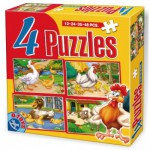Puzzle  Dtoys-64585-AD-01 Chickens, geese, ducks and sheep