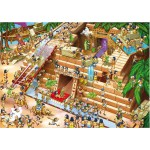 DToys-64974-CP01 Jigsaw Puzzle - 225 Pieces - Camy Puzzle : Cartoon Egypt Pyramid