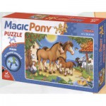 Puzzle  Dtoys-65230-MP-01 The Family of horses: horse-shaped pieces