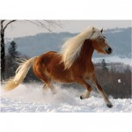 DToys-65933-HH02 Jigsaw Puzzle - 239 Pieces - Horses Magic : Haflinger II