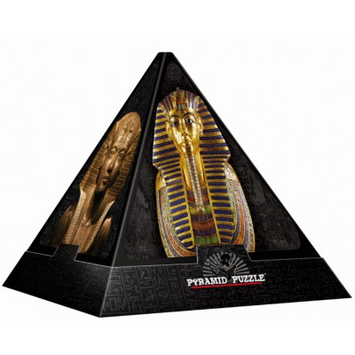 DToys-65957-PP02-(70432) Jigsaw Puzzle - 500 Pieces - 3D Pyramid - Egypt : Masks