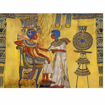 DToys-65971-EY01 Jigsaw Puzzle - 1000 Pieces - Ancient Egypt : Fresco details