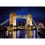 DToys-65995-DE01 Jigsaw Puzzle - 1000 Pieces - Discovering Europe : Tower Bridge, London