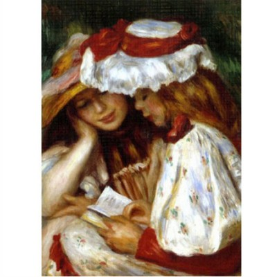 DToys-66909-RE02 Jigsaw Puzzle - 1000 Pieces - Renoir : Two Young Women Reading