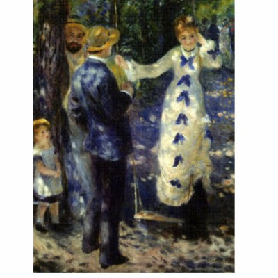 DToys-66909-RE03 Jigsaw Puzzle - 1000 Pieces - Renoir : The Swing