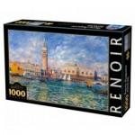 Puzzle  DToys-66909-RE08-(74911) Pierre-Auguste Renoir: The Doge's Palace, Venice