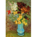 DToys-66916-VG02-(70258) Jigsaw Puzzle - 1000 Pieces - Van Gogh : Flowers in a Blue Vase