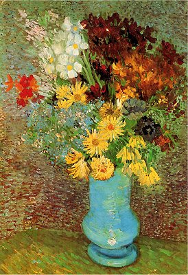 DToys-66916-VG02 Jigsaw Puzzle - 1000 Pieces - Van Gogh : Flowers in a Blue Vase