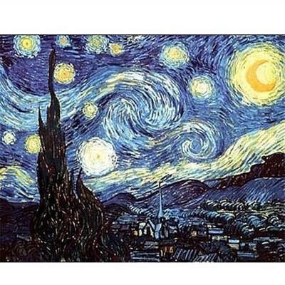 DToys-66916-VG08 Jigsaw Puzzle - 1000 pieces - Van Gogh : Starry Night