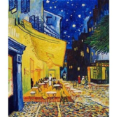 DToys-66916-VG09-(70180) Jigsaw Puzzle - 1000 Pieces - Van Gogh : Cafe Terrace at Night