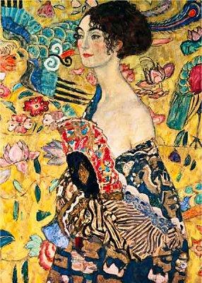 DToys-66923-KL03-(70159) Jigsaw Puzzle - 1000 Pieces - Klimt : Woman with Fan