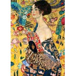 DToys-66923-KL03 Jigsaw Puzzle - 1000 Pieces - Klimt : Woman with Fan
