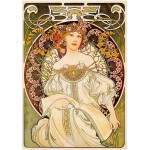 Dtoys-66930 Jigsaw Puzzle - 1000 Pieces - Alphonse Mucha : Daydream