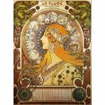 DToys-66930-MU02-(70111) Jigsaw Puzzle - 1000 Pieces - Alphonse Mucha : Zodiac