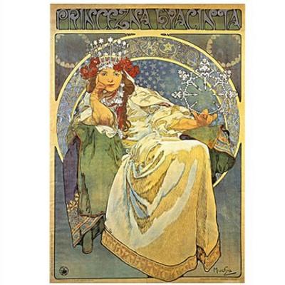 DToys-66930-MU03 Jigsaw Puzzle - 1000 Pieces - Alphonse Mucha : Princess Hyacinth