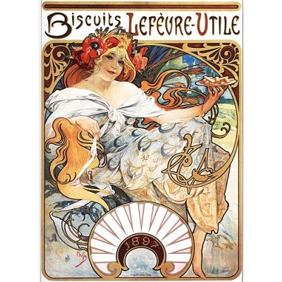 DToys-66930-MU04-(70098) Jigsaw Puzzle - 1000 Pieces - Alphonse Mucha : Lefèvre-Utile Biscuits