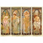 DToys-66930-MU08-(70050) Jigsaw Puzzle - 1000 Pieces - Alphonse Mucha : Times of Day