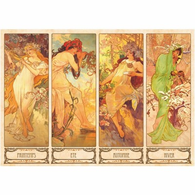 DToys-66930-MU09 Jigsaw Puzzle - 1000 Pieces - Alphonse Mucha : Seasons