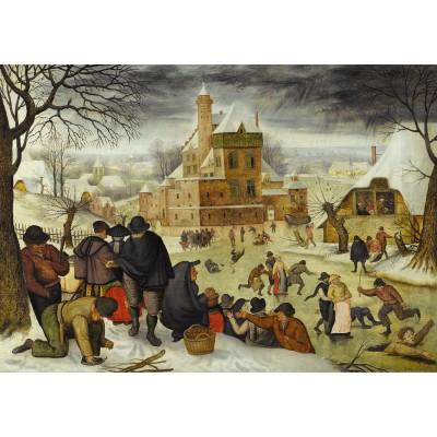 DToys-66947-BR04-(70005) Jigsaw Puzzle - 1000 Pieces - Brueghel : Winter