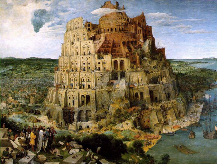 DToys-66947-BR05 Jigsaw Puzzle - 1000 Pieces - Brueghel : The Tower of Babel