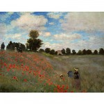 DToys-66961-IM02 Jigsaw Puzzle - 1000 Pieces - Impressionism - Monet : Poppy Field in Argenteuil