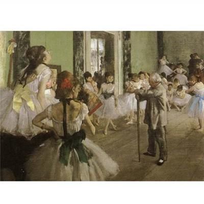 DToys-66961-IM03 Jigsaw Puzzle - 1000 Pieces - Impressionism - Degas : Dance Examination