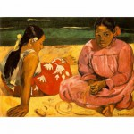 DToys-66961-IM05 Jigsaw Puzzle - 1000 Pieces - Impressionism - Gauguin : Tahitian Women on the Beach