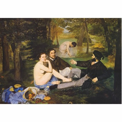 DToys-66961-IM09 Jigsaw Puzzle - 1000 Pieces - Impressionism - Manet : Breakfast on the Grass