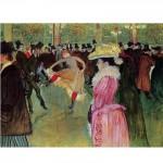 DToys-66978-TL01 Jigsaw Puzzle - 515 Pieces - Henri de Toulouse-Lautrec : Dance at the Moulin Rouge