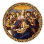 DToys-66985-TM01 Jigsaw Puzzle - 525 Pieces - Round - Masters of the Renaissance - Botticelli : Madonna della Melagra