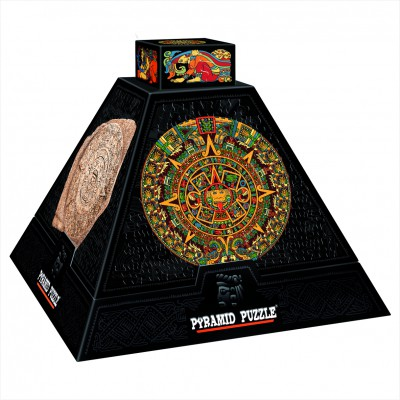 DToys-66992-PP02 Jigsaw Puzzle - 504 Pieces - 3D Pyramid - Pre-Columbian Art : Rosettes