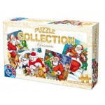 Puzzle  Dtoys-67340-XM-02 The Father Christmas is distributing the Christmas toys