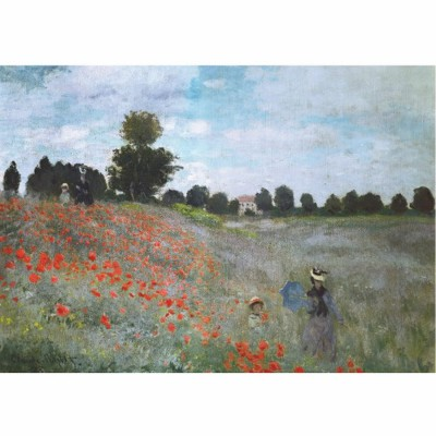 Dtoys-67548 Jigsaw Puzzle - 1000 Pieces - Monet : Poppies
