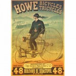 Dtoys-67555 Jigsaw Puzzle - 1000 Pieces - Vintage Posters : Howe Tricycles